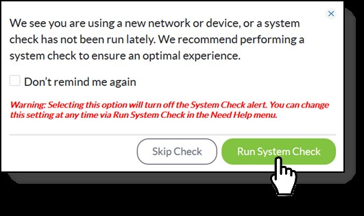 Run System Check Img